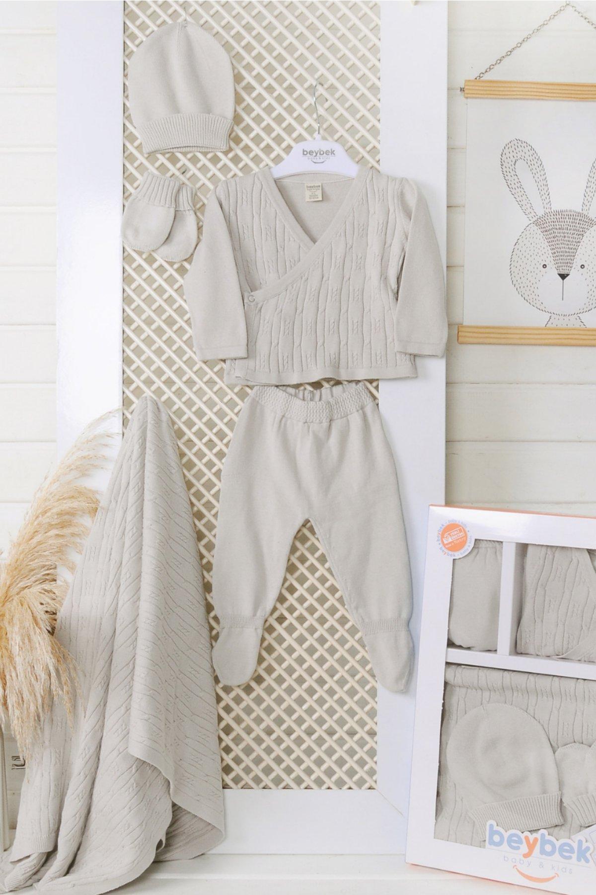 Kruvaze Set-Gray/Gri   0-3 Month %100 Cotton