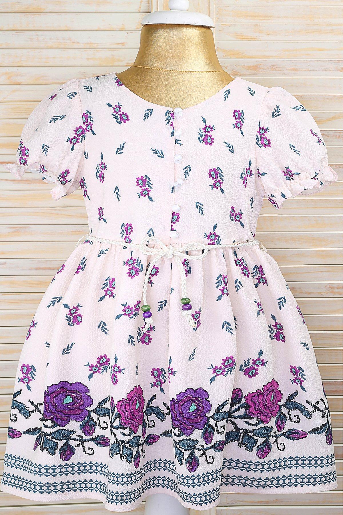 Çiçek Baskılı Elbise