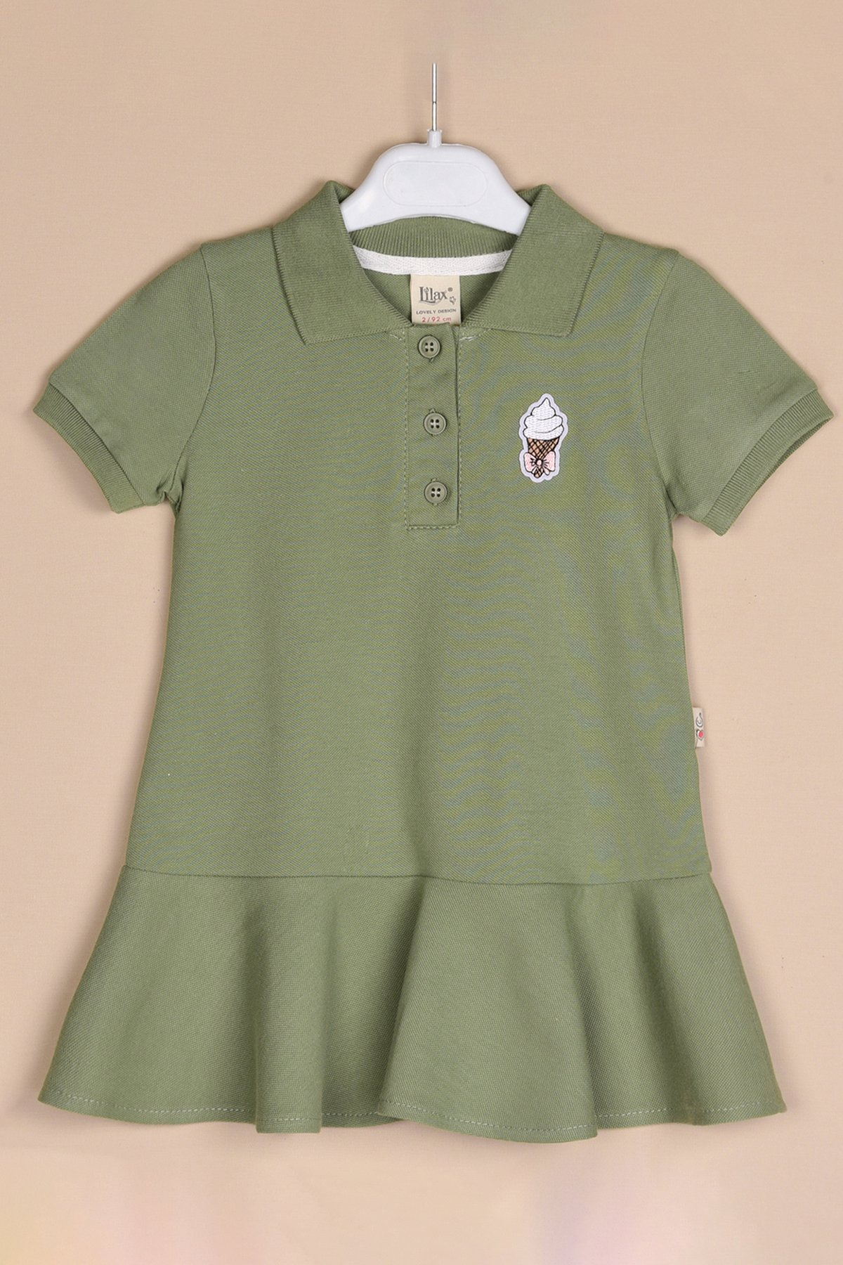 Dondurma Aplikeli Lacoste Elbise