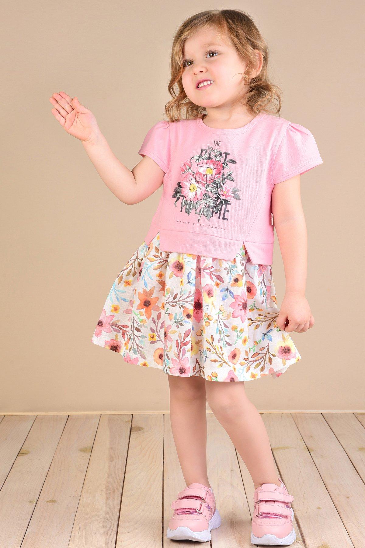 Çiçekli Etekli Lacoste Elbise