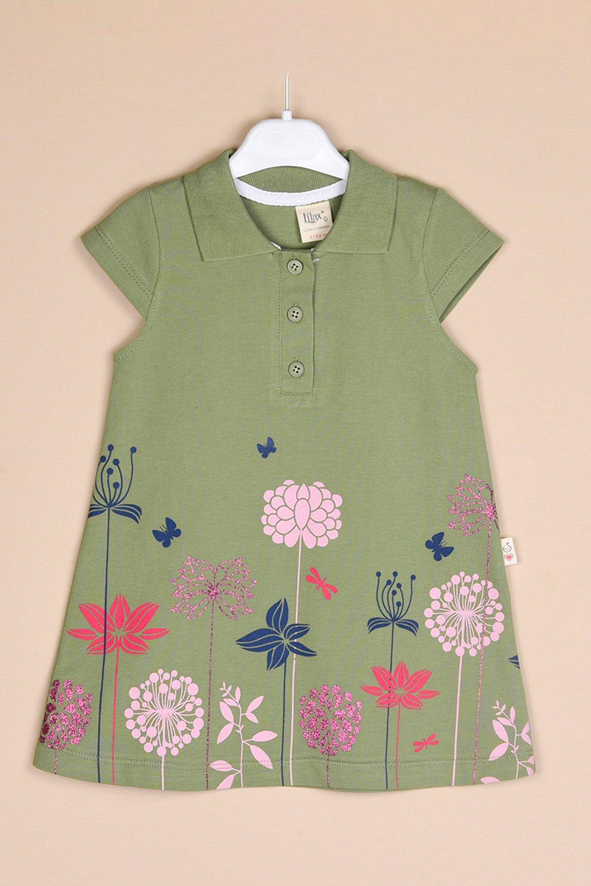 Çiçek Baskılı Lacoste Elbise