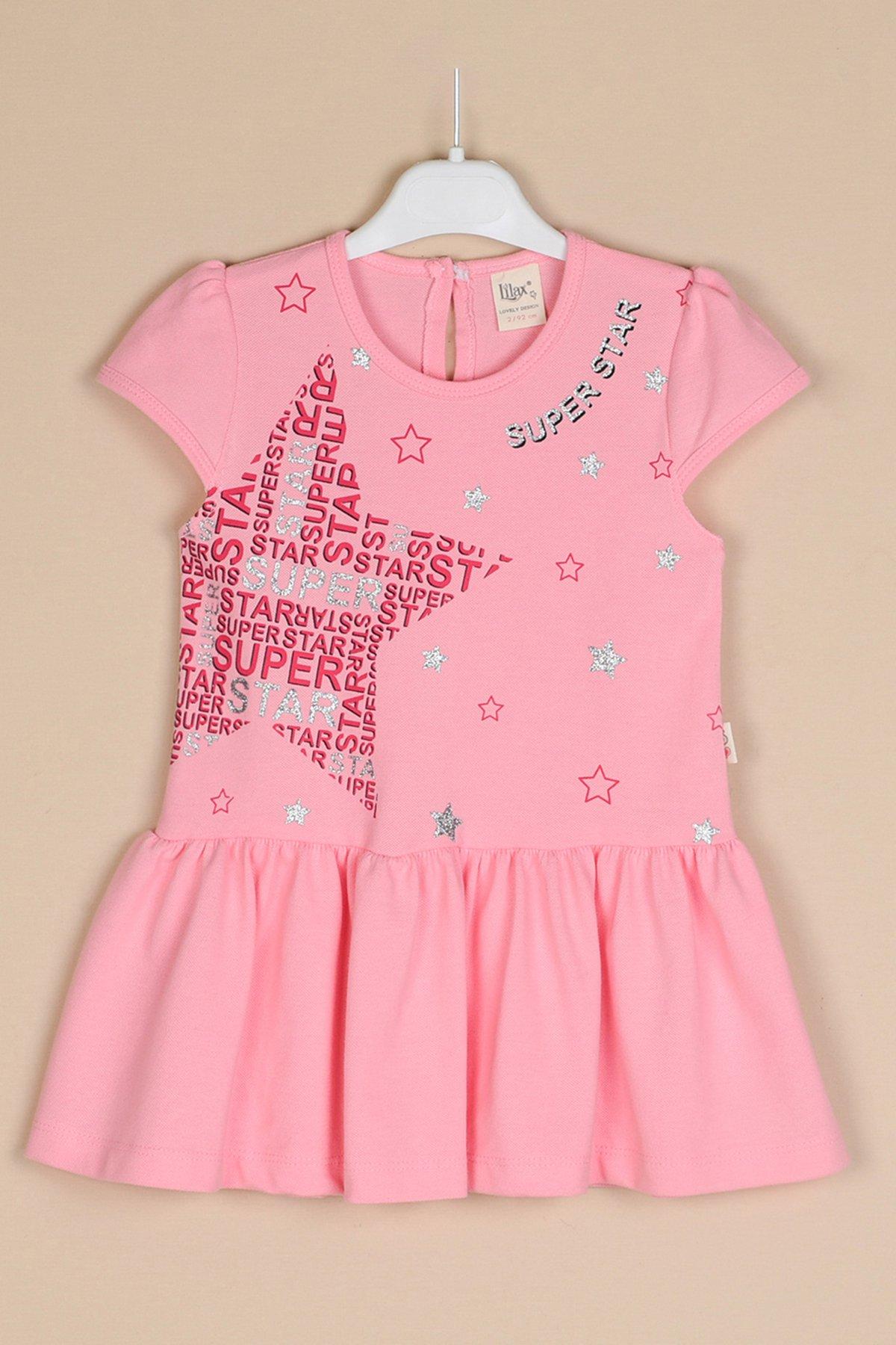 Yıldız Baskılı Lacoste Elbise